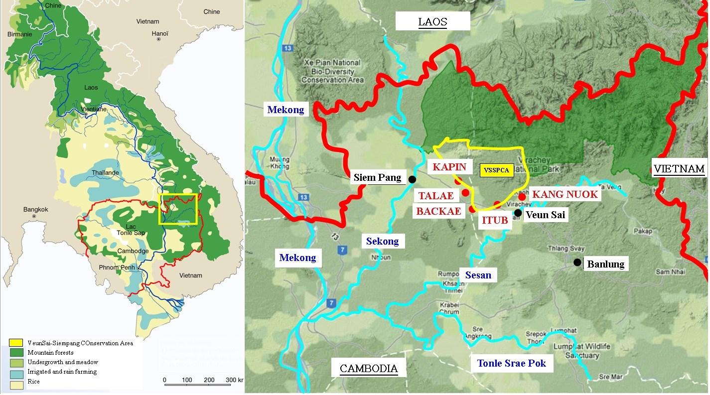 Le Ratanakiri et le village de Backae sont situés au nord-est du Cambodge, près de la frontière avec le Laos (© Poh Kao).