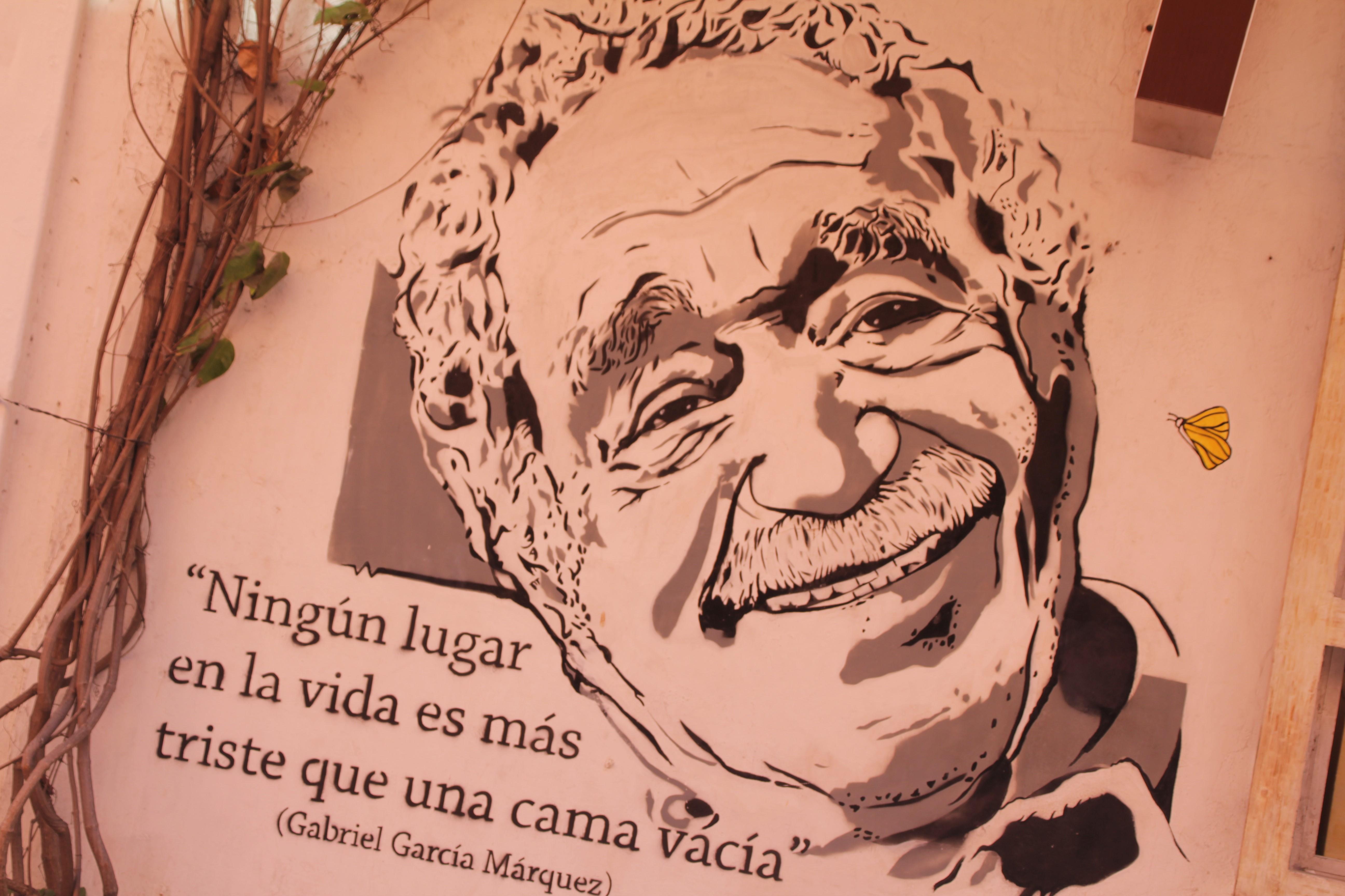 """Gabriel García Márquez, qui a écrit notamment """"Cent ans de solitude"""", est l'auteur le plus réputé de Colombie (© Jérôme Decoster)."""