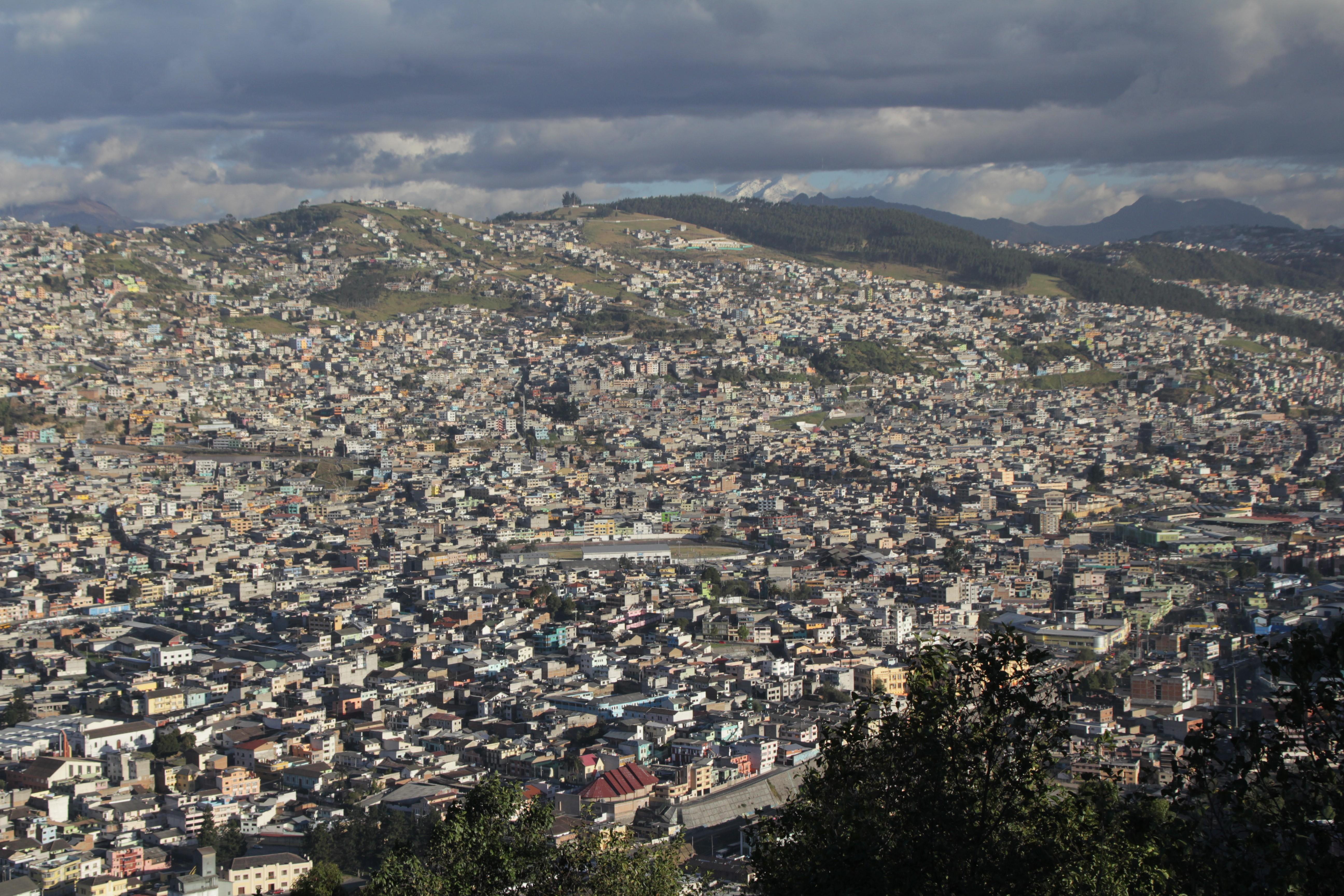 Vue sur Quito en haut du Panecillo (© Aurélie Bacheley).