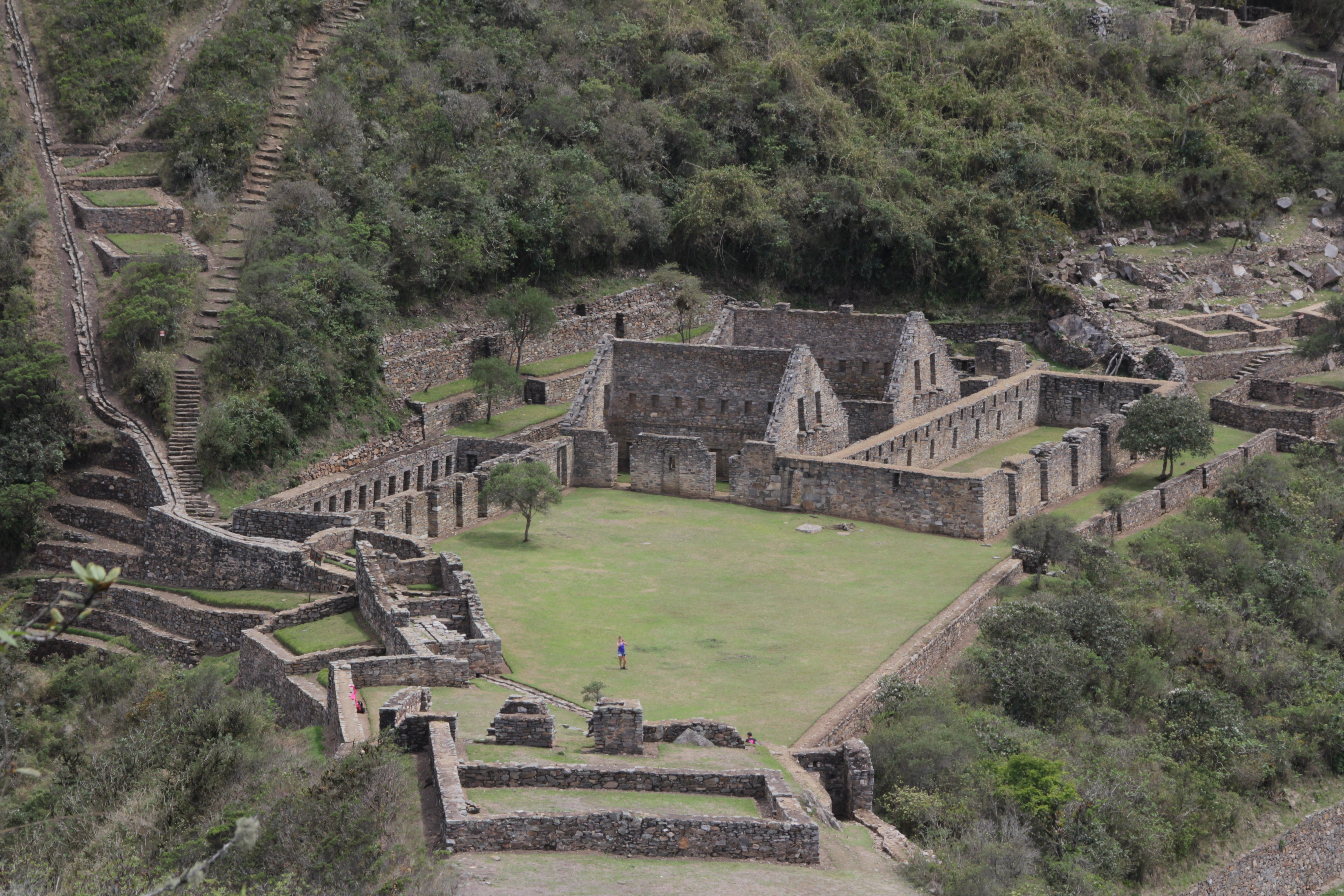 Le Choquequirao, site inca encore préservé de l'afflux touristique (© Aurélie Bacheley)