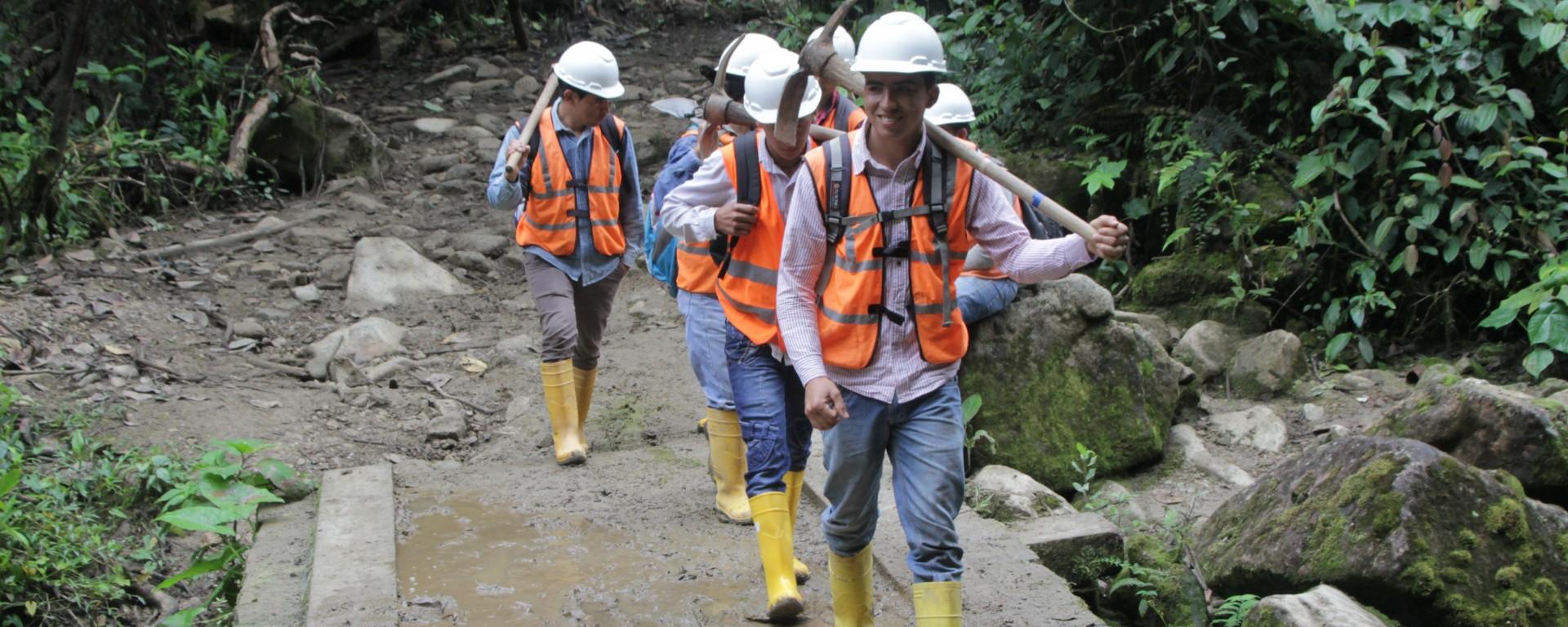 Les ouvriers du projet minier de Junín (© Jérôme Decoster).
